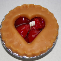 Heart Fruit Pie Candles-  3 inch - Apple, Blueberry, Cherry, Strawberry, Peach, Pumpkin, Maple Pecan, Lemon Merangue