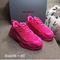 ROSE RED BALENCIAGA Balenciaga Triple-S SHOES FOR WOMEN MEN GIFT