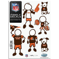 Cleveland Browns NFL Family Car Decal Set (Small)
