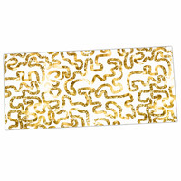 """Anneline Sophia """"Squiggles in Gold"""" Yellow White Desk Mat"""