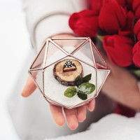 NEW! Mini Diamond Ring Bearer Box / Wedding Ring Box / Rose Gold Ring Box / Wedding Ceremony Decor / Spring Wedding / Geometric Ring Pillow