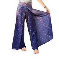 Boho Pants Colorful Pants Hippie Yoga Pants Boho Peacock Drop Trouser Bangkok Pants