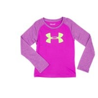 Under Armour Girls' Infant UA Big Logo Raglan Long Sleeve