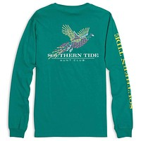 Hunt Club Long Sleeve Tee in Bluegrass by Southern Tide