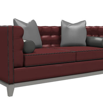 Color Customizable Leather Loveseat Sofa Jared by Lazar Industries