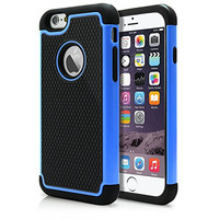 """iPhone 6 & 6S Plus Case, Laxier(TM) Premium Ultra Thin Shock Proof Protective Cover Hard Shell Plastic Rubber Silicone Case For Apple iPhone6 / iPhone6S Plus 5.5 inches (5.5"""")(Blue)"""