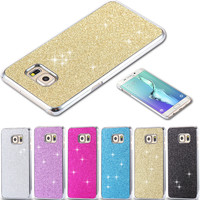 Colorful Glitter Bling Power Case For Samsung Galaxy S6 Edge Plus G928 Ultra Thin Cover Shiny Luxury Elegant Hard Back Cover