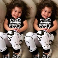 2pcs/set Kid clothes set 2016 Brand summer kids clothes sets t-shirt+pants 2pcs suit clothing set geometric Print sport suits