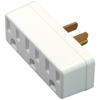 Axis 45090 3-Outlet Wall Adapter Converts Single 3-Prong to 3x 3-Prong Outlets