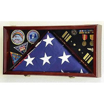 Large Flag & Medals Military Pins Patches Insignia