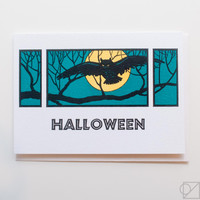 Night Owl Halloween Greeting Card