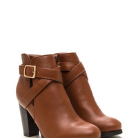 Love Factory Faux Leather Chunky Booties