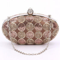 Women Diamond Rhinestone Clutches Woman Evening bag Crystal Day Clutch Wallet Wedding Purse