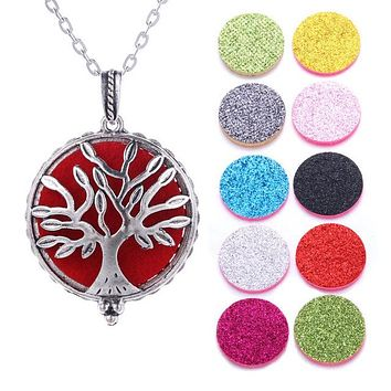 Beautiful Essential Oil Diffuser Pendant w/ 10 Pads