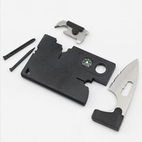 Outdoor EDC tool 9 in 1 self defense personal security Survival Pocket Mini Knife Multifunction Tool Camping Hiking