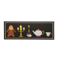 Disney Beauty And The Beast Wood Character Poster