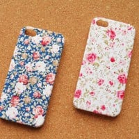 Handmade Flower Leather Case for iPhone