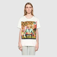 Gucci Women Short Sleeve Pure cotton Print T-shirt