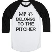 baseball girl-Unisex White/Black T-Shirt