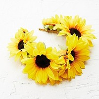 Katie Burley Frida Sunflower Head Crown - Urban Outfitters