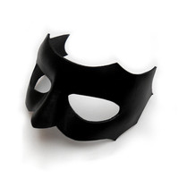 Male Black Leather Mask Men Man Masculine Masquerade Carnival Mardi gras Halloween Valentine Parties Bridal Weddings Gift Theater Birthdays