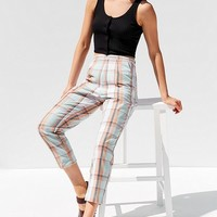 Urban Renewal Remnants Plaid Pin-Up Pant | Urban Outfitters