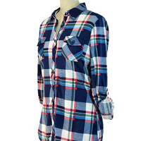 Country Casual Plaid Top