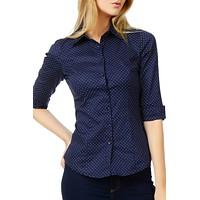 Polka Dots Stretch Cotton Shirt