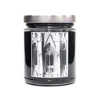 GOTHIC, Soy Blend Candle, 8oz Scented Candle, Goth Medieval Candle, Cathedral Architecture, Art History, Neo-Gothic Arches, Black Candle
