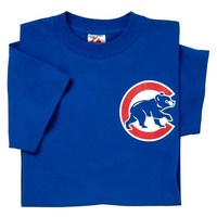 Chicago Cubs (ADULT MEDIUM) 100% Cotton Crewneck MLB Officially Licensed Majestic Major League Baseball Replica T-Shirt Jersey