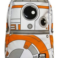 """Star Wars BB-8"" Backpack by Loungefly (White/Orange)"
