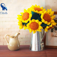 Handmade Yellow Sunflowers (9 flowers) [DIY Kit OR Finished Item]