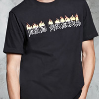 Bad Habits Flame Graphic Tee