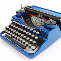 Hot-Rodded Typewriter -- Underwood Model F in Candy Blue