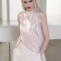Shiny Nude Top | NOT JUST A LABEL