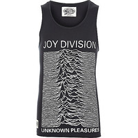 River Island MensBlack Worn By Joy Division tank