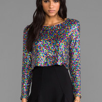 MINKPINK Glamouir Glitter Crop Top in Multi