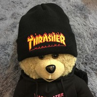 Day-First™ Thrasher Winter Couples Alphabet Embroidered Knit Hats