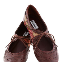 ModCloth Menswear Inspired Looking Lovely Flat in Floral
