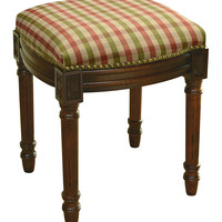 123 Creations Red & Green Plaid Upholstered Vanity Stool   zulily