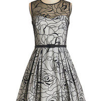 ModCloth Mid-length Sleeveless A-line Aria in the Evening Dress