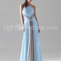 Chiffon Elastic Silk-like Satin Sheath/ Column Spaghetti Straps Evening Dress inspired by Calista Flockhart at Oscar - US$ 149.99
