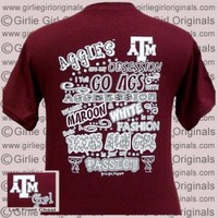 Texas A&M T-Shirt: Aggies Obsession (Short Sleeve) [t-A&M-obs] - $16.99 : Girlie Girl™ Originals - Great T-Shirts for Girlie Girls!