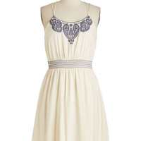 Americana Mid-length Spaghetti Straps The Phrase that Paisley Dress