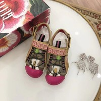 Gucci Women's Leather And Mesh Sandal With Crystals Style 4 - Best Online Sale