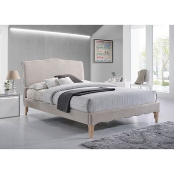 Baxton Studio Euclid French Classic Modern Style Beige Linen Fabric Platform Bed | Overstock.com Shopping - The Best Deals on Beds