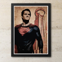 Man of Steel Superman Daily Planet Poster / Print High Quality 170gr Coated Paper (Special Design)
