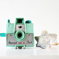 Summer Photos - Vintage Imperial Mark XII Camera Flash - Mint - Green - Pastel - Beach - Photography - Mid Century - Collectible