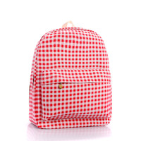 Canvas Casual Plaid Backpack = 4887424836
