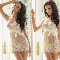 On Sale Hot Deal Cute Butterfly See Through Lace Underwear Sexy Sleepwear Exotic Lingerie [6596681987]